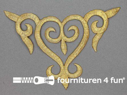 Barok applicatie 138x88mm goud