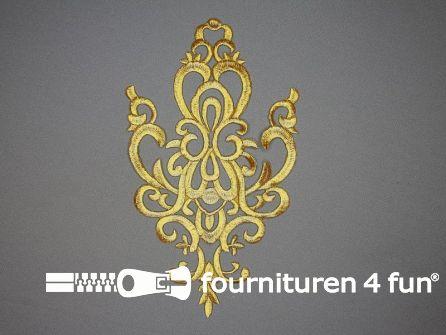 Barok applicatie 250x140mm goud
