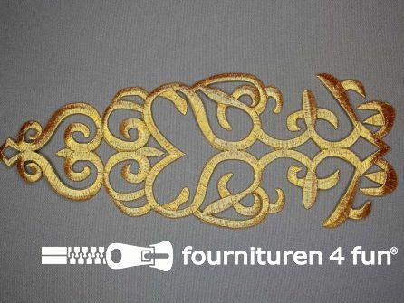 Barok applicatie 285x100mm goud