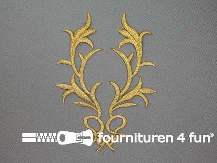 Barok applicatie 145x115mm goud