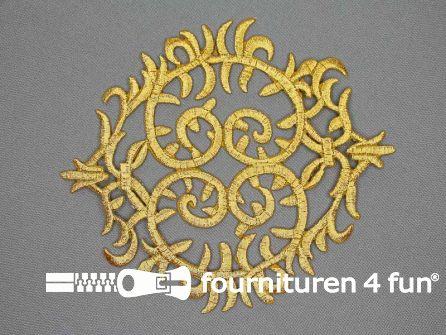 Barok applicatie 143x125mm goud