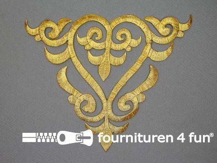 Barok applicatie 143x175mm goud