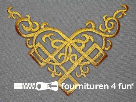 Barok applicatie 135x170mm goud