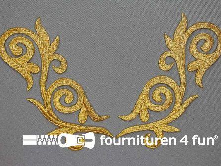 Barok applicatie 133x53mm goud per paar