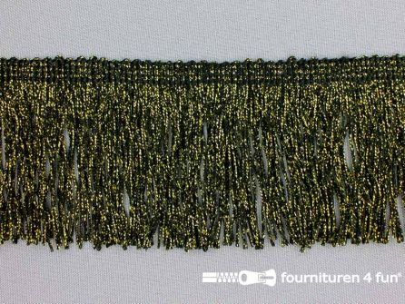 Goud franje 70mm zwart - goud