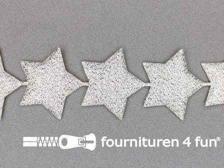 Guirlande sterretjes 38mm zilver