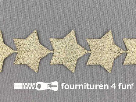 Guirlande sterretjes 38mm goud