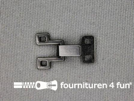 Haken en ogen 20x12mm zwart zilver