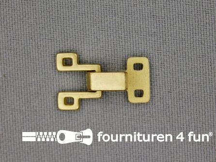 Haken en ogen 20x12mm mat goud
