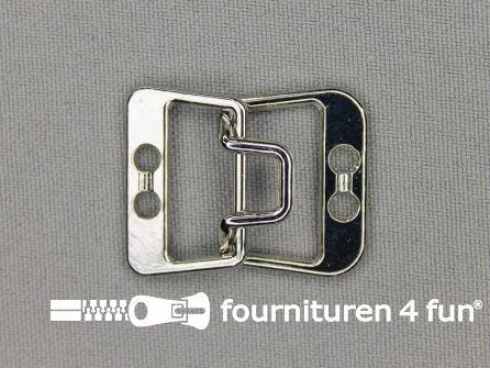 Haken en ogen 31x25mm zilver