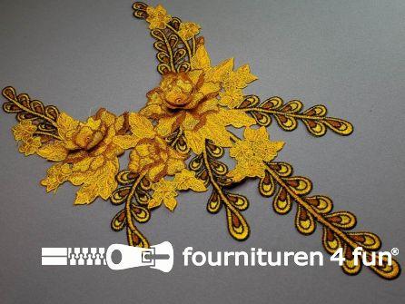Opzet stuk voor hals / kraag  450x280mm geel