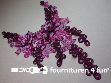 Opzet stuk voor hals / kraag  450x280mm cyclaam - paars
