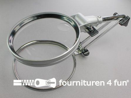 Metalen handwerk loep - vergrootglas - 12cm