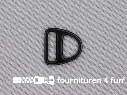 Harnas triangel - driehoek D-ring 16mm zwart