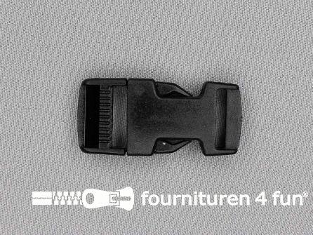 Parachute gesp 20mm zwart / heavy duty