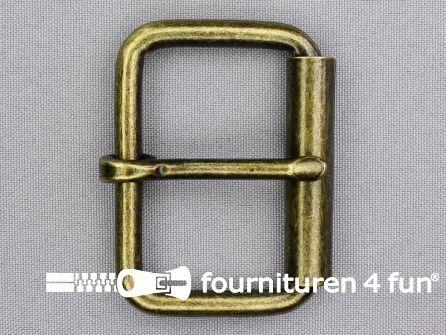 Heavy duty metalen rolgesp 50mm brons