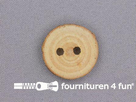 Houten knoop rond circa 19 tot 25mm