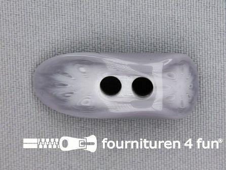 Houtje touwtje knoop 35mm kunststof grijs