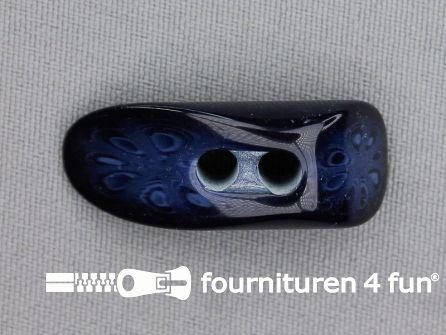 Houtje touwtje knoop 35mm kunststof marine blauw