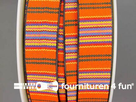 Ibiza tassenband 25mm oranje blauw