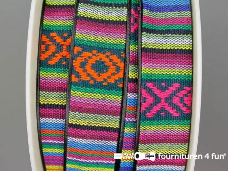 Ibiza tassenband 25mm multicolor
