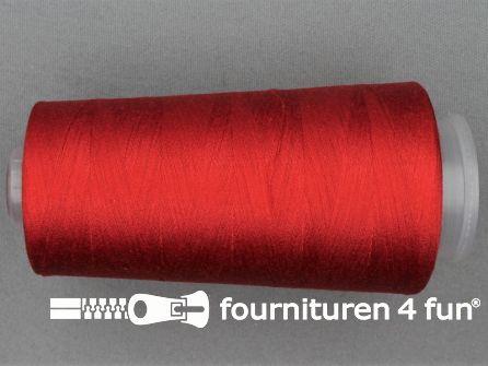 100% polyester Lockgaren 40/2 rood
