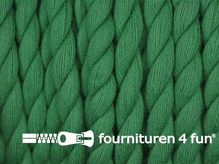 Katoen polyester koord 5mm emerald groen