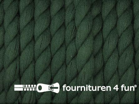 Katoen polyester koord 5mm flessen groen