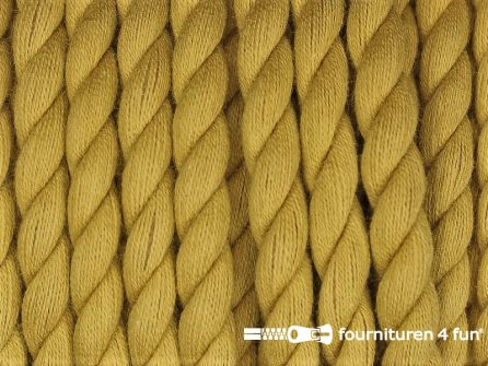 Katoen polyester koord 5mm oker geel