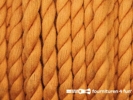 Katoen polyester koord 5mm brique oranje