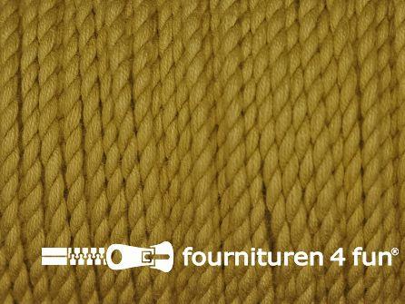Katoen polyester koord 2,5mm oker geel