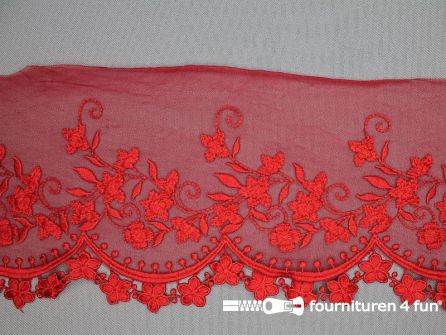 Synthetisch kant 125mm rood