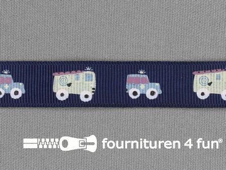 Deco lint autootjes 16mm donker blauw