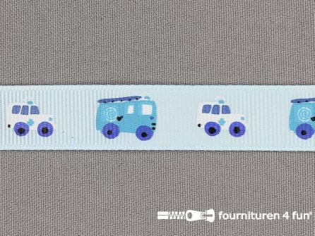 Deco lint autootjes 16mm licht blauw