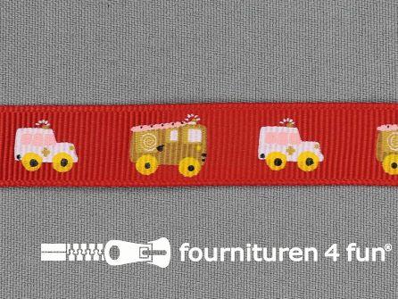 Deco lint autootjes 16mm rood