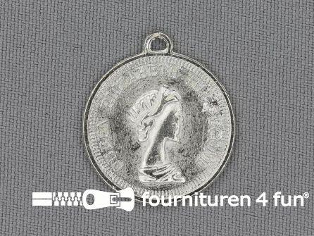 Munten 25mm zilver 10 stuks