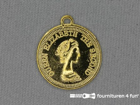 Munten 25mm goud 10 stuks