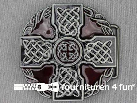 Buckle Celtic black silver / bordeaux