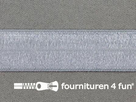 Rol 25 meter elastische biasband 20mm licht jeans blauw
