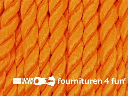 Viscose meubel koord 6mm neon oranje