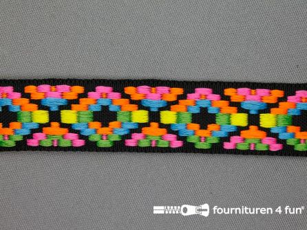 Indianenband 24mm multicolor neon