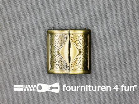 Inhaakgesp 28mm brons