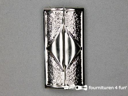 Inhaakgesp 58mm zilver