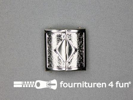 Inhaakgesp 28mm zilver
