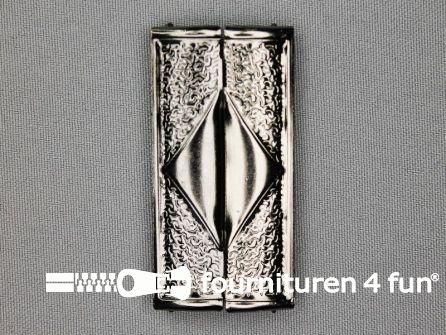 Inhaakgesp 58mm zwart zilver
