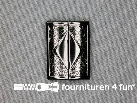 Inhaakgesp 39mm zwart zilver