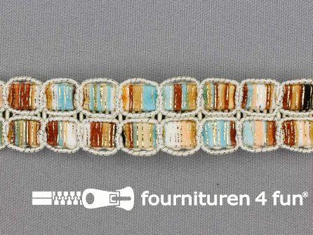 Jacquard band 24mm multicolor ecru