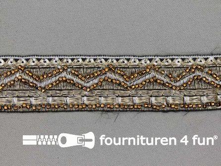 Jacquard band 30mm goud - zilver