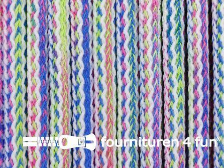 Jassen koord 8mm multicolor