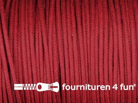 Katoen wax-look koord 1,5mm rood